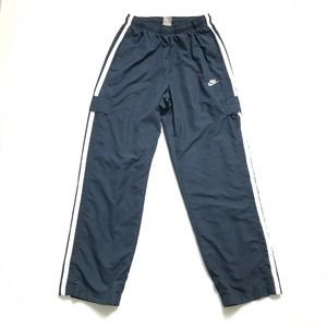 Nike Navy and White Lined Track Pants